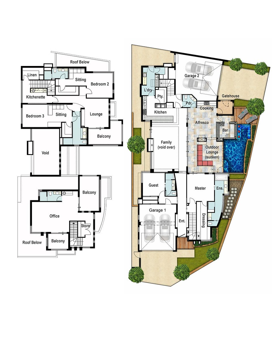 Two Storey House Floor Plans - The Hudson by Boyd Design Perth