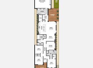 Narrow-Lot House Plan The Colombia