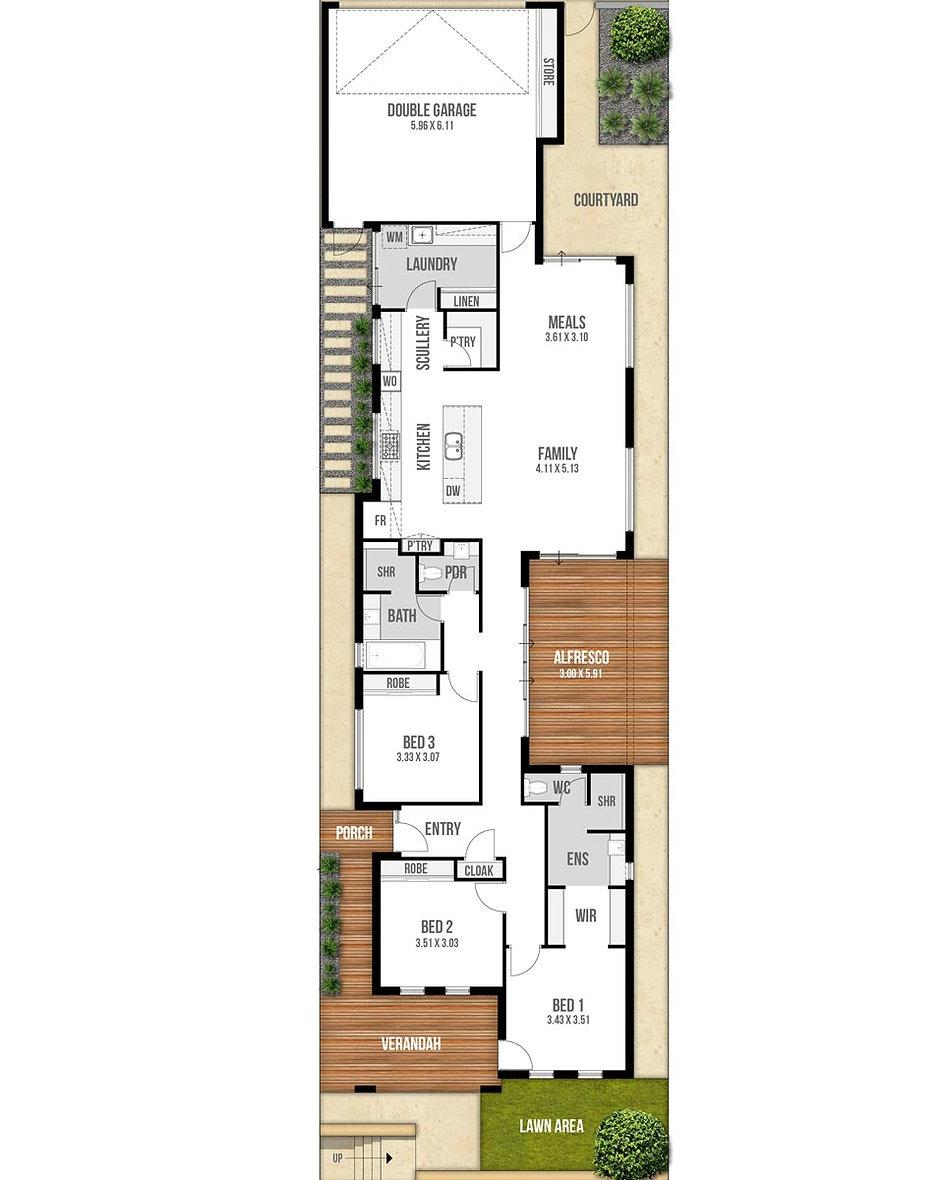 Single Storey House Floor Plan - The Rhapsody by Boyd Design Perth
