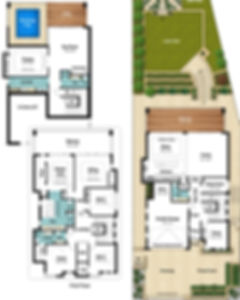 Three Storey House Floor Plans - The Vista by Boyd Design Perth