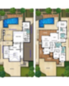 Split Level House Floor Plans - The Hampton by Boyd Design Perth