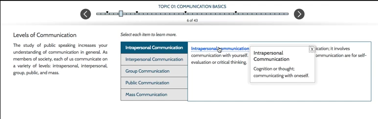 Sample eLearning interactive