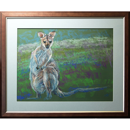 """""""Red-necked wallaby"""" Pastel. 22 x 17 inches."""