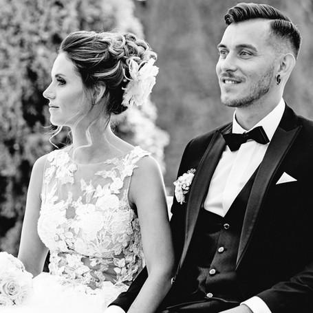 Hochzeit-Fotografie-Ehepaar-Schwarz-Weiß