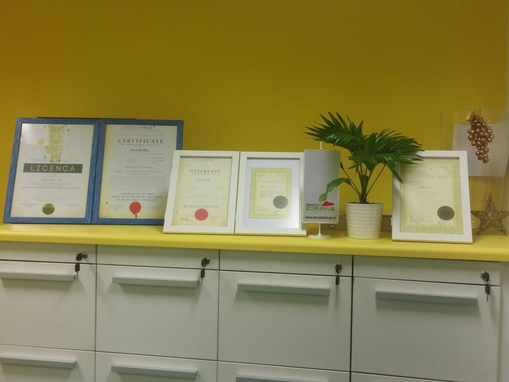 Certifikati terapevtov