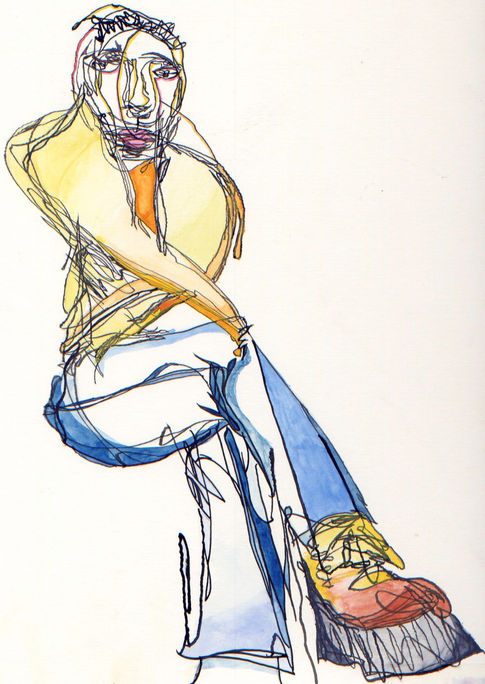 Ink and Watercolour Man