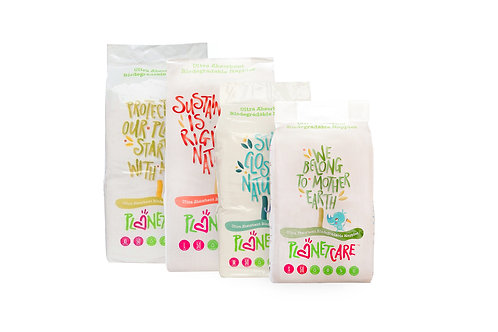 PlanetCare Nappies - 3 Packs