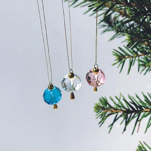 Miniatyr - Julgranskula Kristall - Drip Drop kollektion 2021