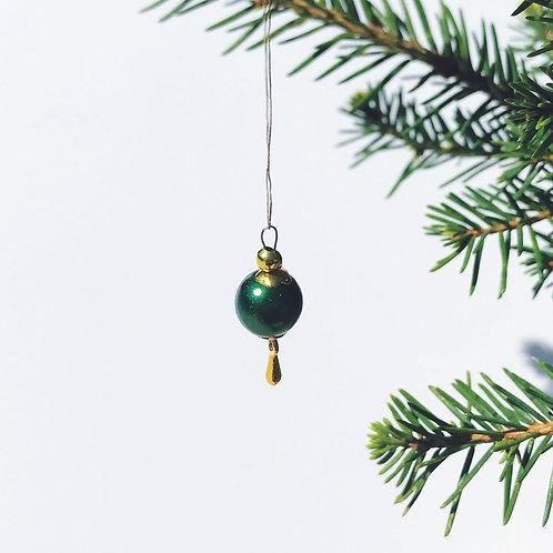 Miniatyr - Julgranskula Grönbarr - Drip Drop kollektion 2021