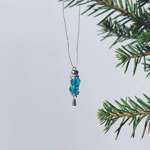 Miniatyr - Julgranskula Blåfrost - Drip Drop kollektion 2021