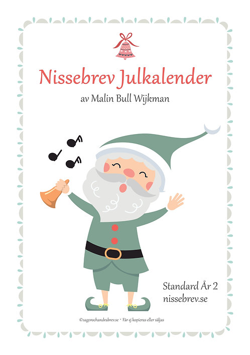 Nissebrev Julkalender® Standard (du) År 2