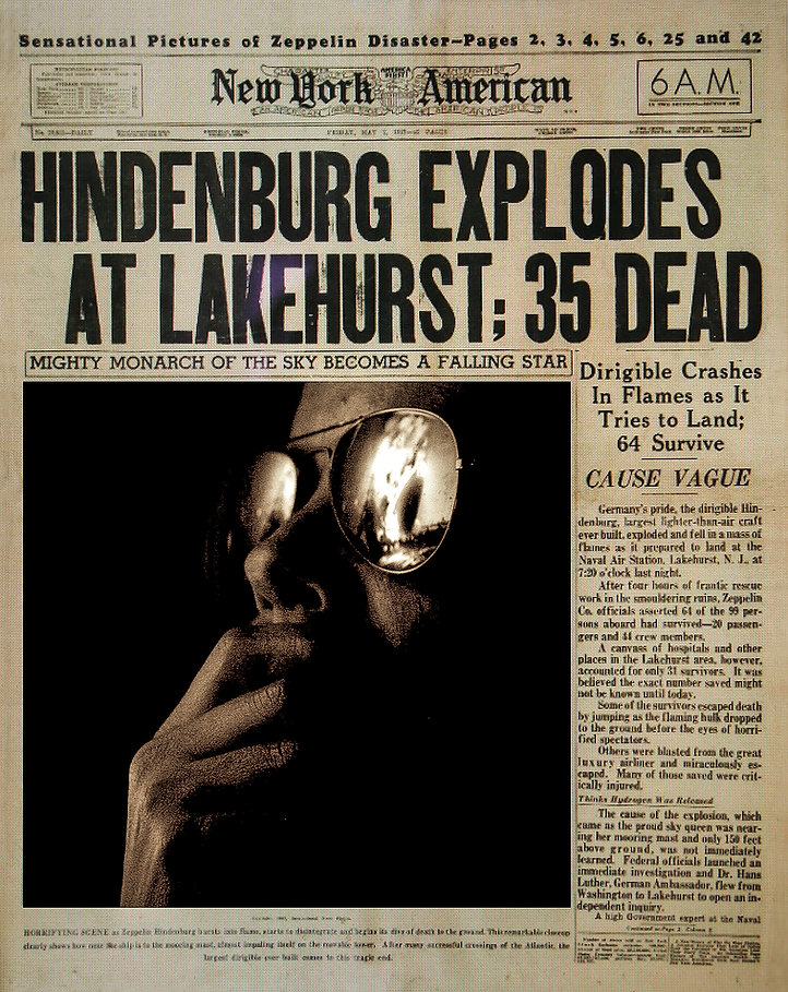 The Hindenburg Newspaper stoklephotograp