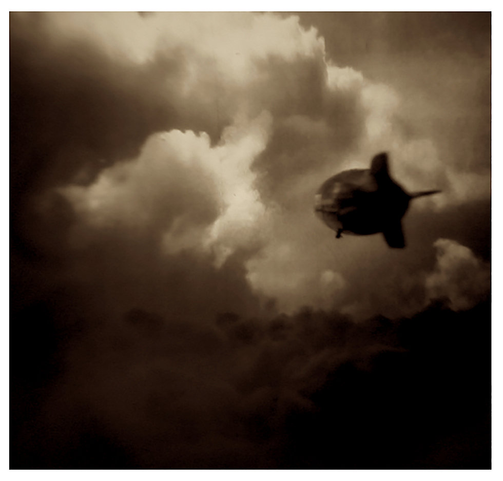 Hindenburg Flying Away(white frame) copy
