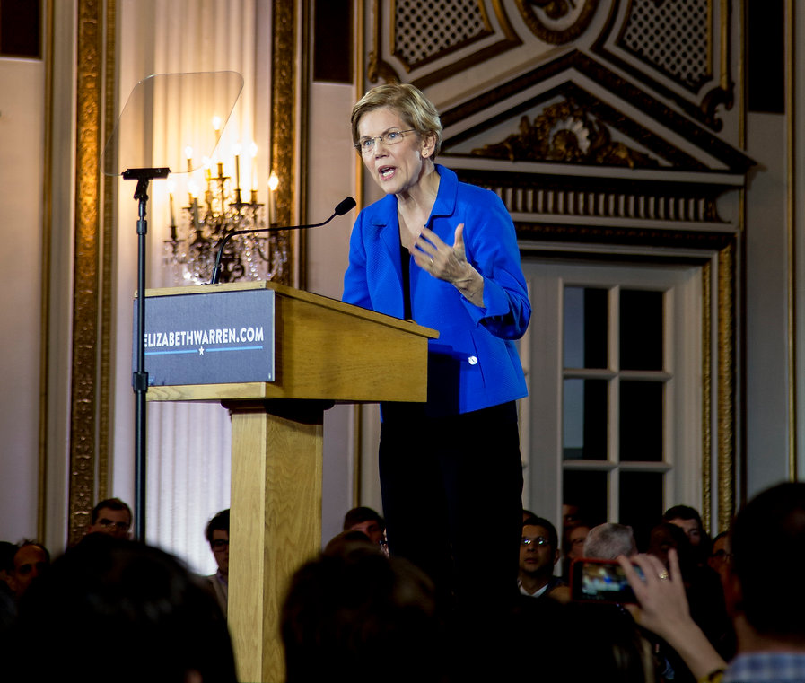 Senator Elizabeth Warren, Election Night