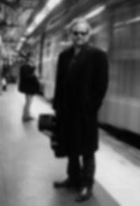 Al Crane Just off The Train 3 B&W web.jp
