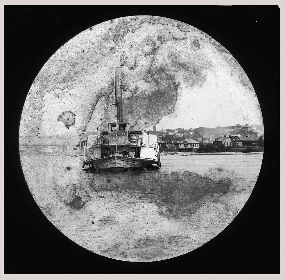 THE CARRIE, ALONG THE HUDSON CA 1880 cop