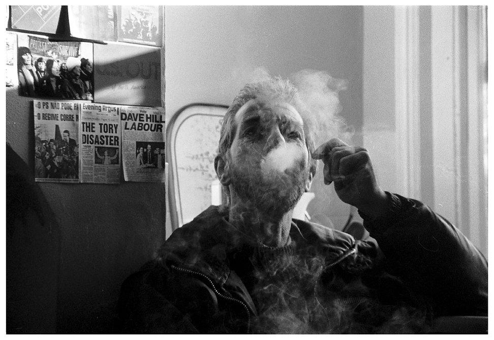 Smoking John Hill white frame website.jp