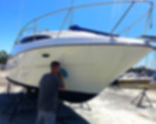 Waxing and Buffing your vessel helps maintain the value of your investment by ehancin its overall appearance