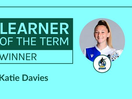 LFE Learner of the Term Winner | Katie Davies