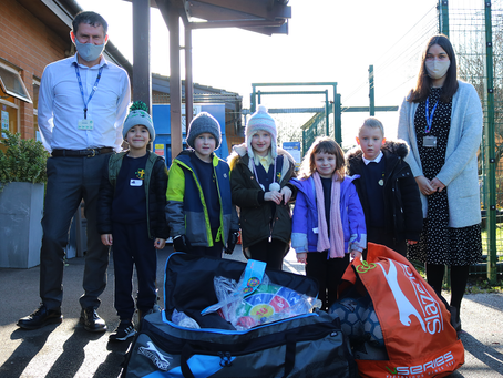 Community Trust donate P.E. Kit to 'Key Worker' pupils