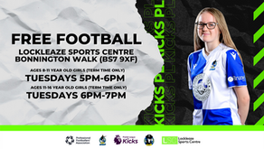 Participation   Free football sessions for girls, kick-off next week