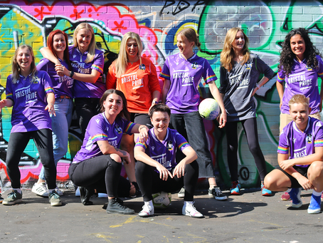 Community | 'Gas Girls'/Bristol Pride shirt inducted into the National Football Museum