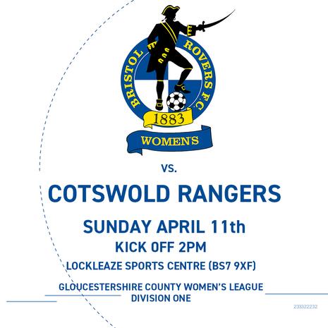Gas Girls 7-0 Cotswold Rangers