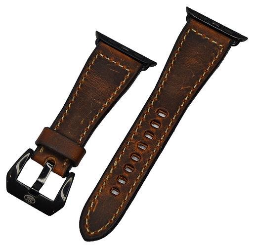 Leather Watchband, Distressed leather