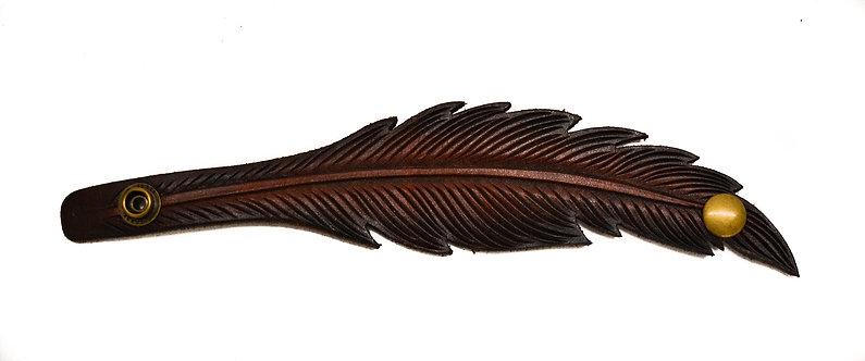 Feather Cuff, Dark brown tips