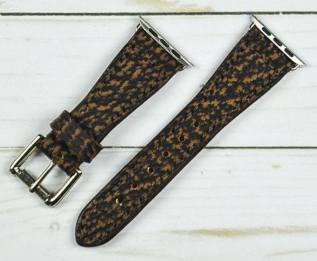 Genuine Shark Skin watch band,  -Two Tone