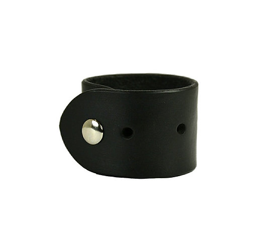 """2"""" Hole punch cuff. Available in Black and Brown"""