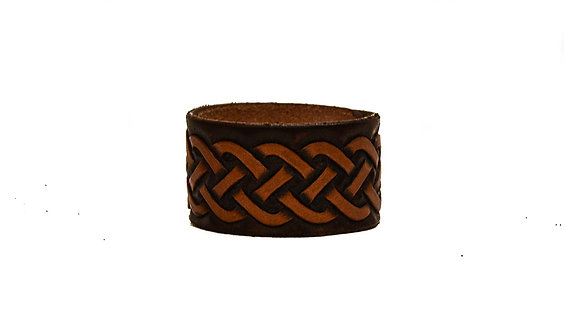 "1.5"" Cuff, Hand carved Celtic pattern"