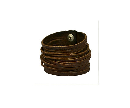 "2.5"" Slinky cuff, available black or brown"