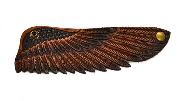 Eagle wing cuff, Brown tips