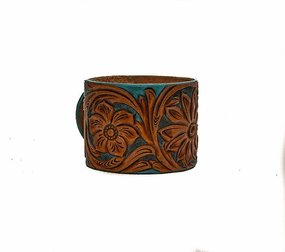 "2"""" Cuff, Hand carved and painted"