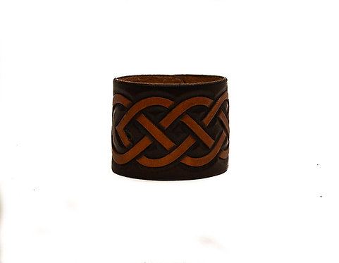 "2"" Cuff, Hand carved Celtic pattern"