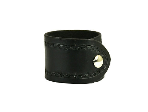 "2"" Border tooled cuff. Available in black or brown"