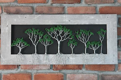 Framed Tree of Life Aluminum Sculpture #210