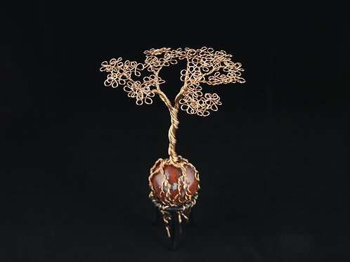 Tree of Life on Red Jasper Sphere #8222