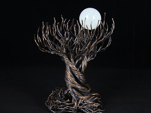 Copper Wire Tree of Life wiht Quartz Sphere #12113
