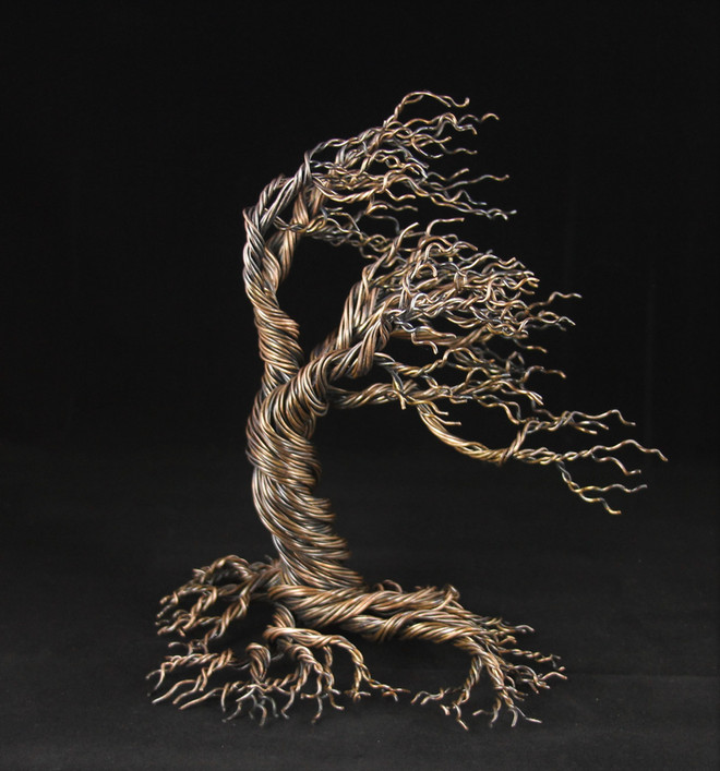Wind Blown Copper Tree