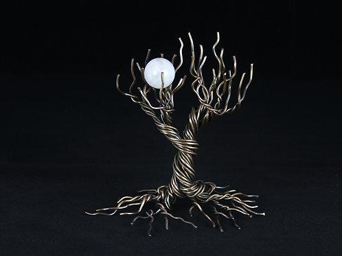 5in Antique Copper Tree | Tree of Life | Rose Quartz Gift Set