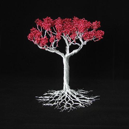 January Birth Stone Aluminum Tree of Life Sculpture #1251
