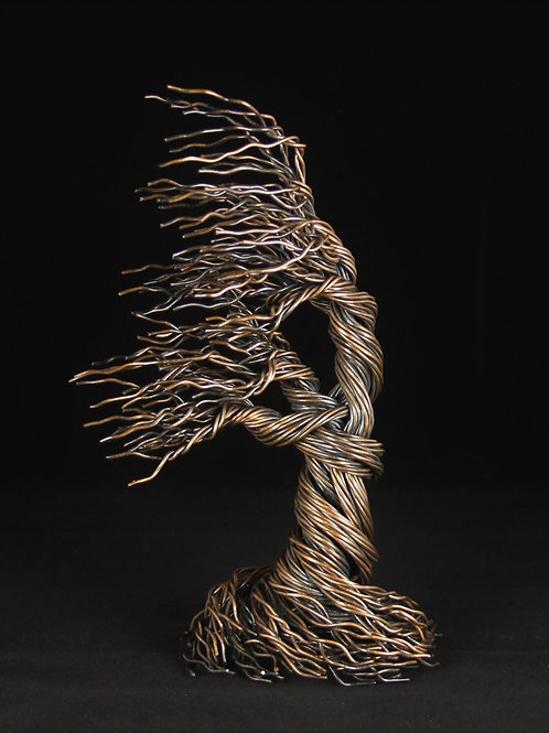 9.5in Wind Swept Antique Copper Tree | Tree of Life | #5261