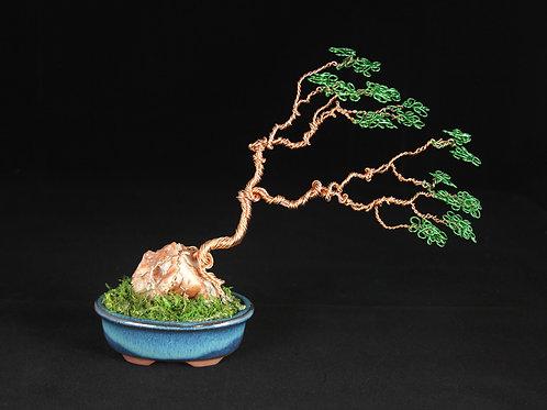 Wire Bonsai Tree on Calcite #6200