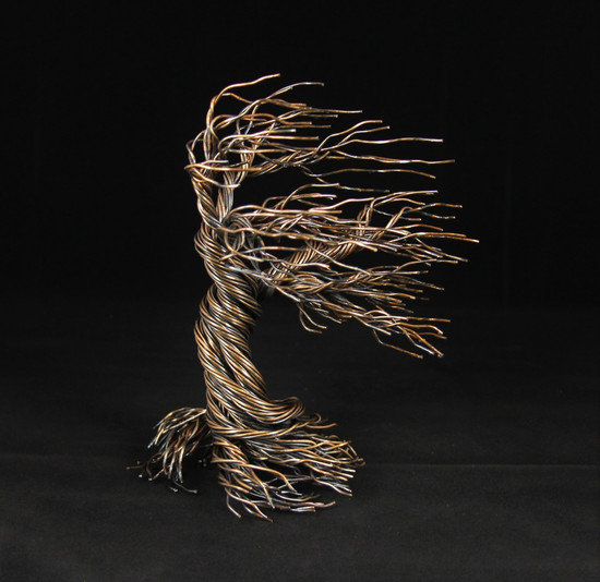 Wind blown tree sculpture