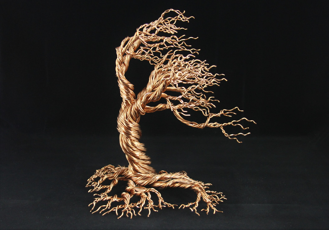 Wind Blown Copper Tree