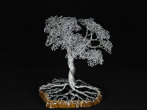 10in Wire Tree on Petrified Wood #5230