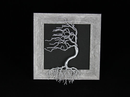 Framed Tree of Life Aluminum Sculpture #740