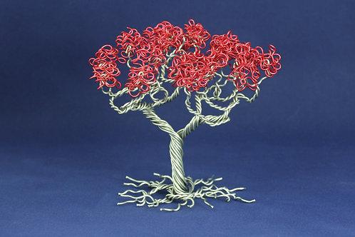 Red Family Tree | Aluminum | Tree of Life | Valentines 1131